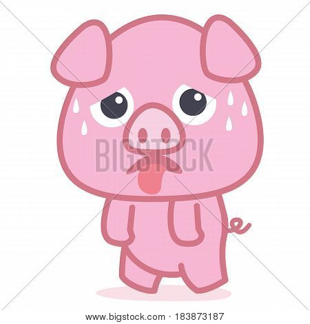 Pig cartoon style collection vector art illustration