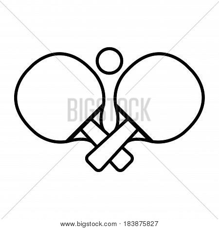ping pong rackets and ball vector illustration design