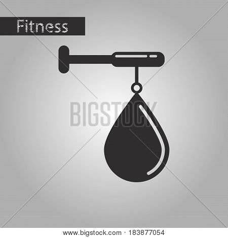 black and white style icon punching bag
