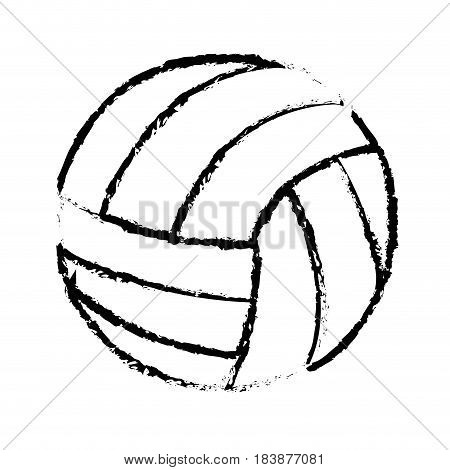 volleyball balloon isolated icon vector illustration design