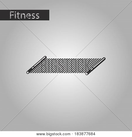 black and white style icon Mat for fitness