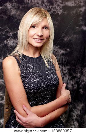 Mature blond womana smling face Slavic woman