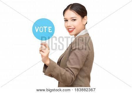 Vote Elect Decision Choice Political Registration. On a white background