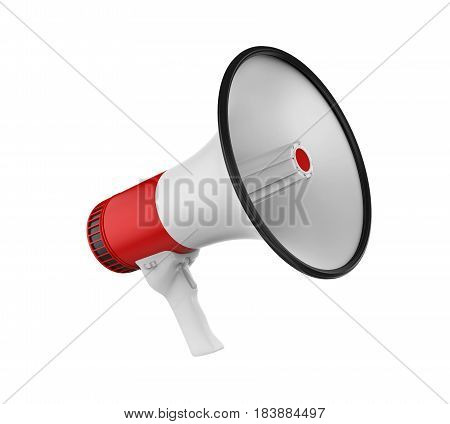 Loudspeaker/Megaphone isolated on white background. 3D render