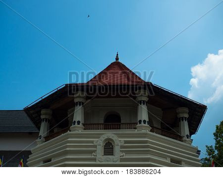 Roof of a Buddhist temple in Sri - Lanka