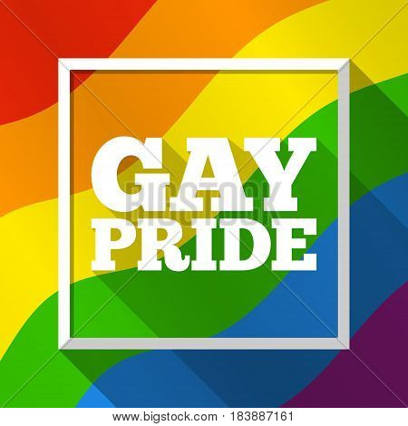 Gay Pride rainbow background. Vector illustration in LGBT flag colors. Symbol of peace and tolerance equal rights social equality. Modern colorful template for Pride Month parade special events