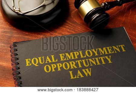 Book with title Equal Employment Opportunity law.