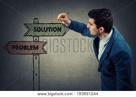 Problem Solution Sign
