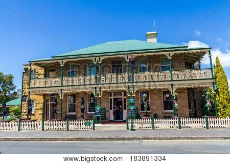 Richmond Tasmania Australia - December 21 2016: Richmond Arms Hotel
