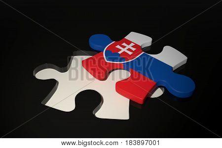 Slovakian Flag Puzzle Piece - Flag Of Slovakia