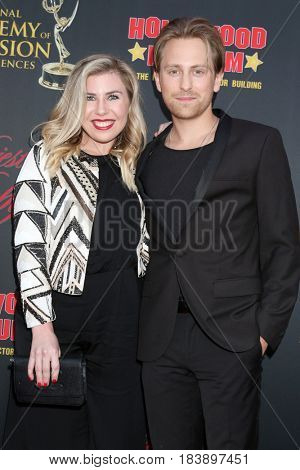 LOS ANGELES - APR 26:  Sainty Nelsen, Eric Nelsen at the NATAS Daytime Emmy Nominees Reception at the Hollywood Museum on April 26, 2017 in Los Angeles, CA