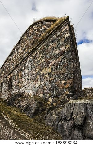 Some intresting views on walls, passages and forts of the fortress Suomenlinna (Sveaborg), Helsinki, Finland