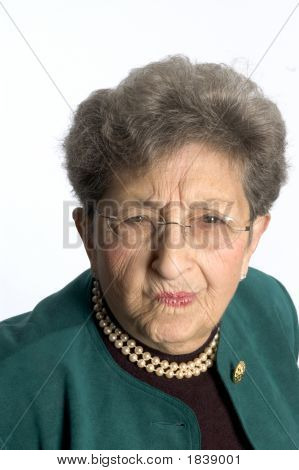 Senior Woman With Skeptical Look