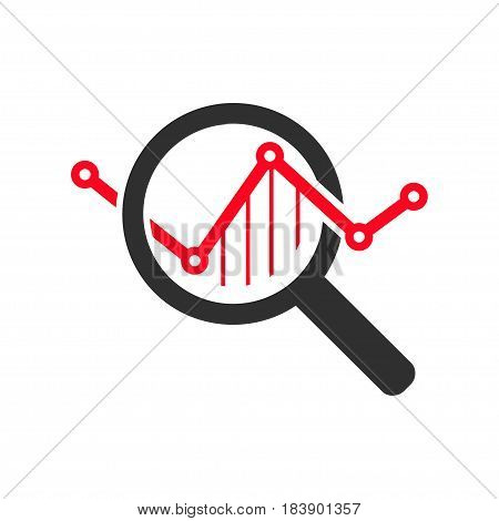 Market Research Icon. Flat Design. Isolated Illustration