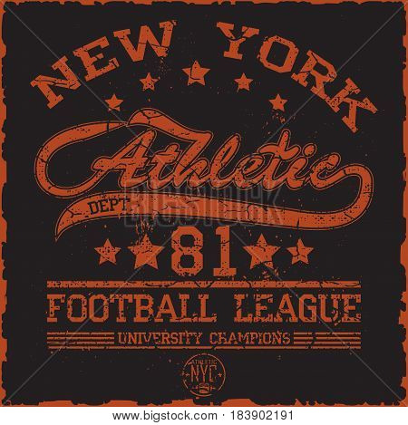 american football, vintage graphics, college graphics, sports graphics for t-shirt
