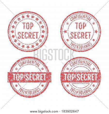 Top Secret Rubber Stamps Grunge Style Set