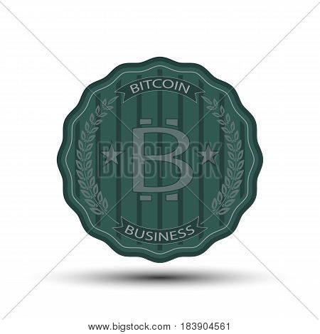 the retro badge with bit coin symbol for you business