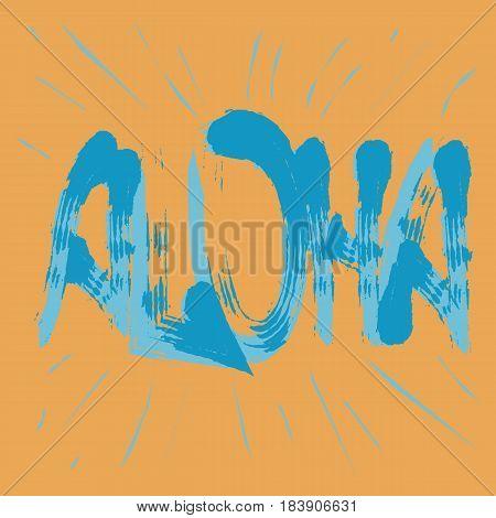 Aloha t-shirt graphics. Fun summer typography. Stock Vector Illustration.