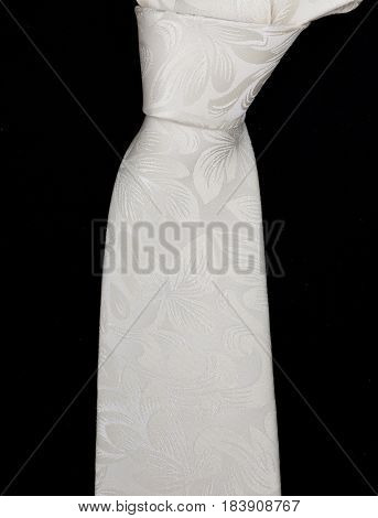 Black Tie On A White Background