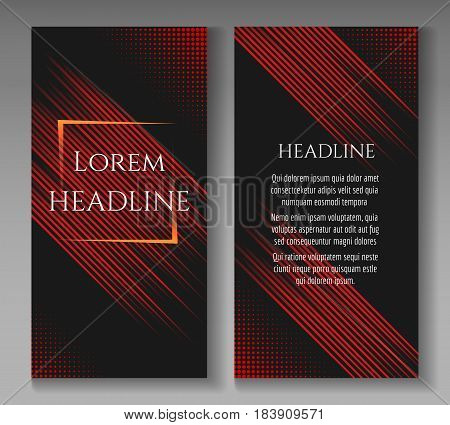 Fast speed lines motion business brochure template. Vector illustration