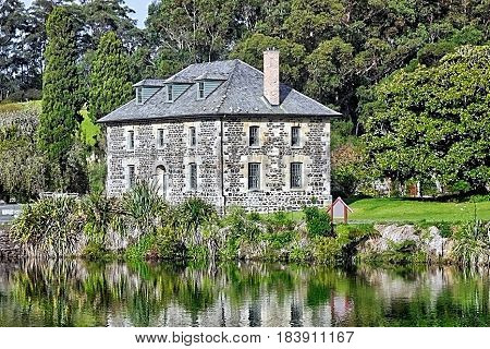 The stone store, Kerikeri. The oldest building in the area erected by missionaries in the 1840s.