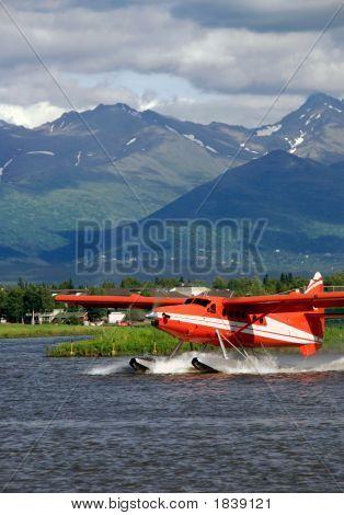 Alaska Floatplane On Lake Hood