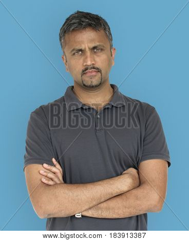 Men Adult Serious Expression Studio
