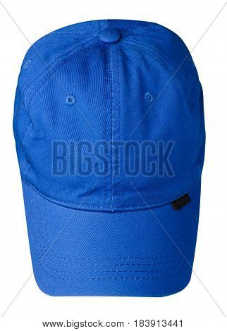 Hat Isolated On White Background. Hat With A Visor .blue Hat