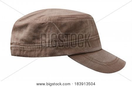 Cap Isolated On White Background. Cap With A Visor