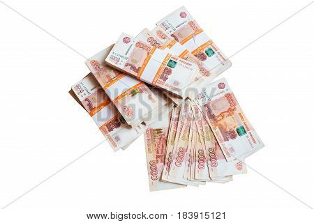 Russian Ruble Russian rubles on a white background