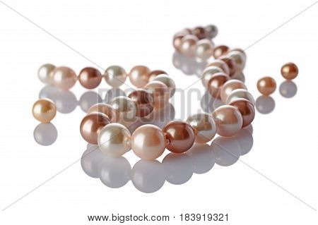 Luxury Elegant Colored Pearl Necklace Close-up