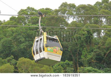 TAIPEI TAIWAN - DECEMBER 8, 2016: Maokong Gondola. Maokong Gondola is a gondola lift transportation system in Taipei opened in 2007