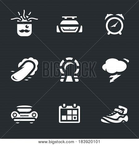 Man, car, clock, skateboard, portal, thunderstorm, retro auto, date, sneaker.