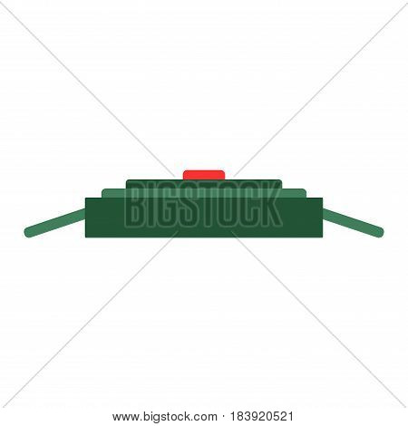 Cartoon detonator for tnt and explosive object. Atarm bomb vector illustration isolated on white background.