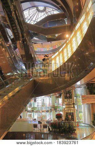TAIPEI TAIWAN - DECEMBER 8, 2016: Taipei Metro The Mall. Taipei Metro The Mall is a shopping mall and office building complex.