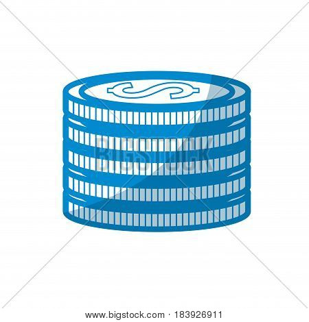 contour coins money save, vector illustration design