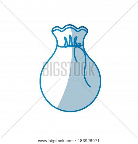 contour bag with money inside, vector illustration design
