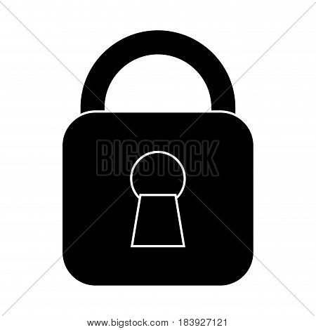 security padlock icon over white background. vector illustration