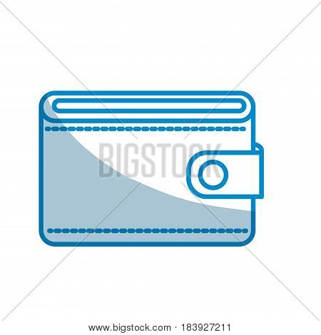 contour wallet to save money, vector illustration design
