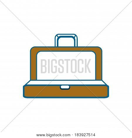brown elegant suitcase open, vector illustration design