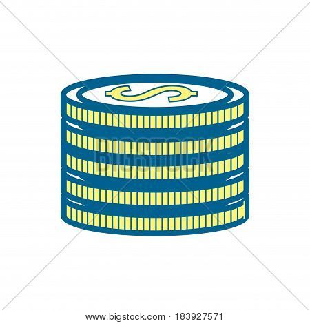 matal coins money save, vector illustration design