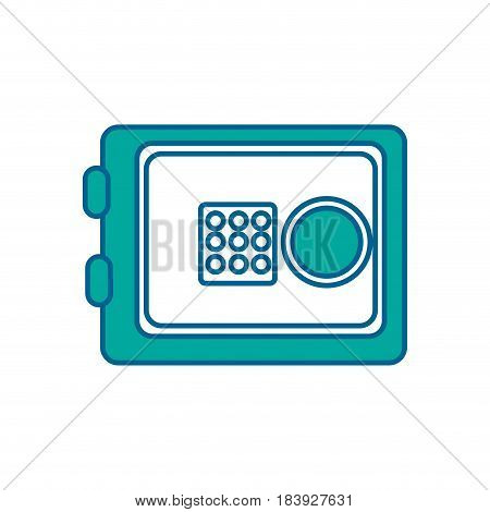 metal safe money in the house secure, vector illustration