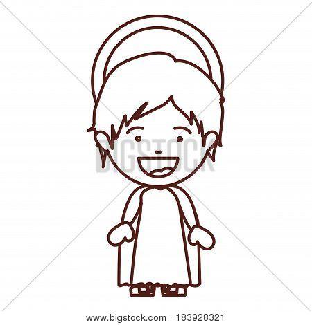 brown silhouette of child jesus vector illustration