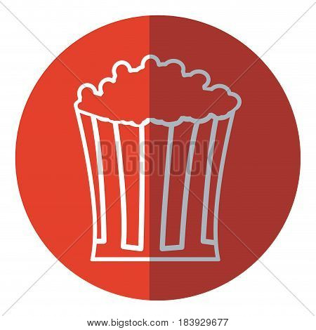 pop corn food celebration party patrotic red circle vector illustration