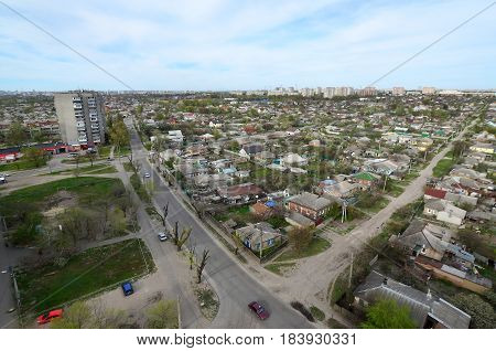 Landscape Of An Industrial District In The Kharkov City From A Bird's Eye View