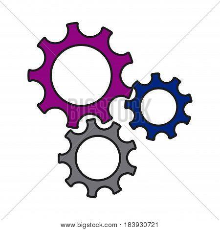 gears wheel cogs teamwork idea collaboration vector illustration