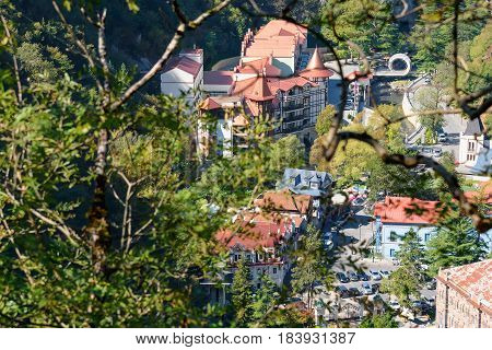 View Of Borjomi Resort Town. Georgia