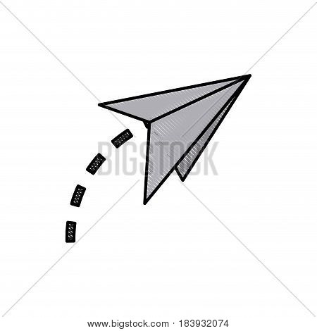 drawing paper airplane origami creativity symbolic vector illustration