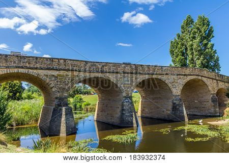 Richmond Tasmania Australia - December 21 2016: Richmond Bridge