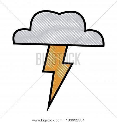 cloud thunderbolt weather storm image vector illustration